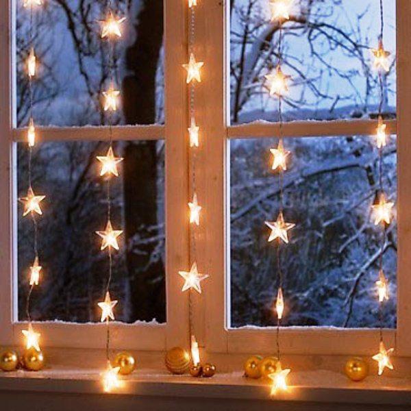 новогодние гирлянды для украшения окон