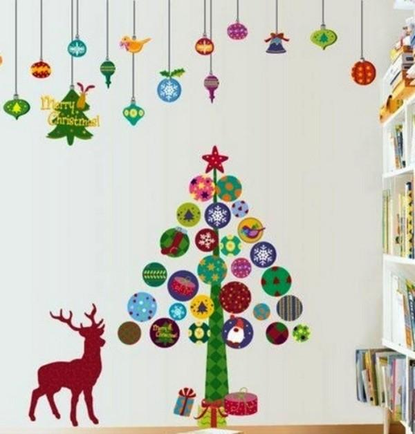 новогодние наклейки в детскую комнату