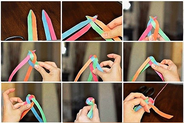 бумажные гирлянды инструкция