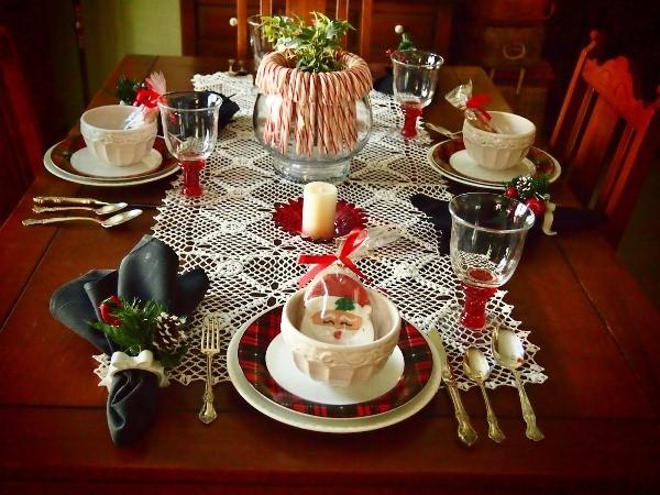 декор новогоднего стола фото