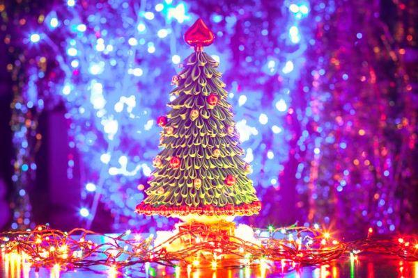 елка в стиле канзаши