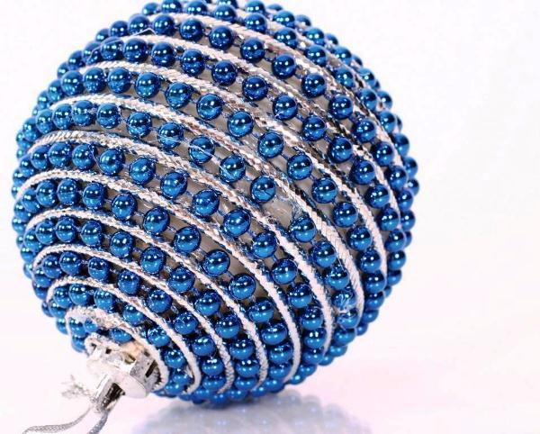 елочная игрушка шар ручной работы фото