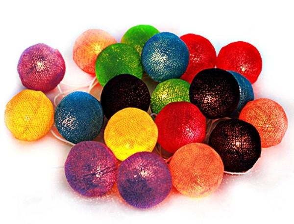 гирлянда из больших шаров