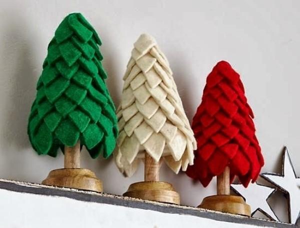 игрушки из фетра на новый год
