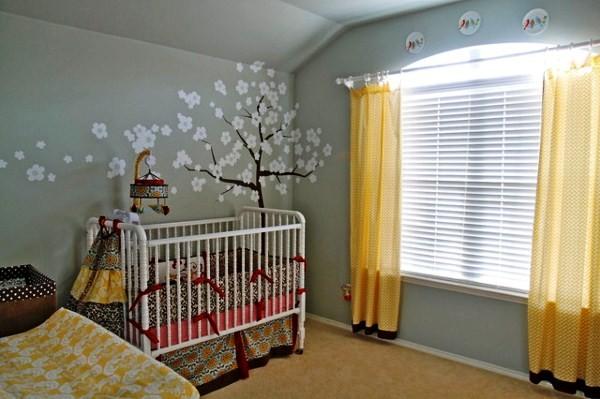 интерьер детской в сером цвете фото