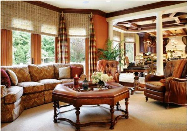 красивые шторы в гостиную фото 12