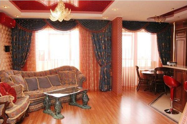 красивые шторы в гостиную фото 14
