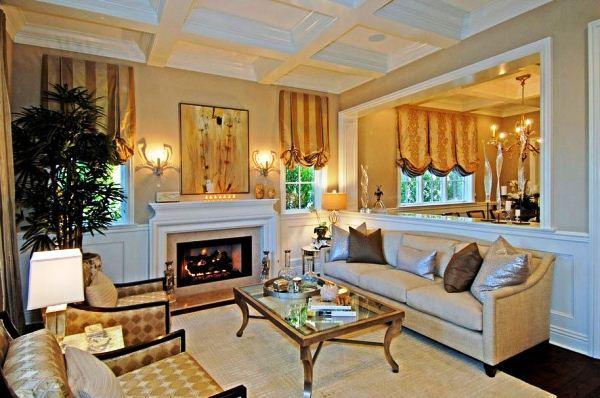 красивые шторы в гостиную фото 15