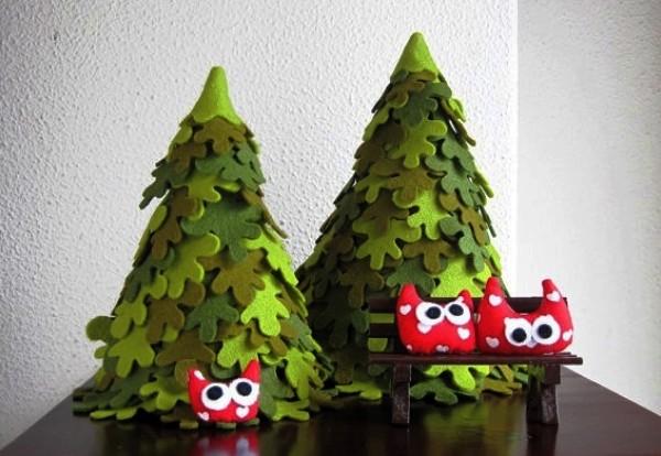 новогодние елки из фетра