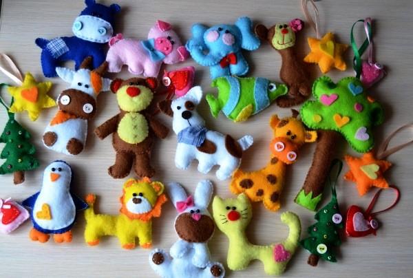 Новогодние игрушки из фетра своими руками 2016