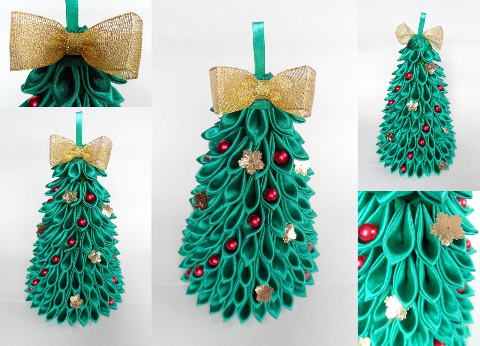 новогодняя елка канзаши