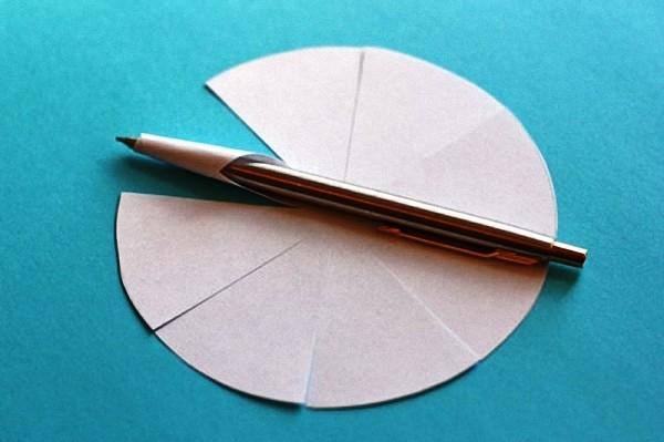 объемная звездочка из бумаги 1 этап