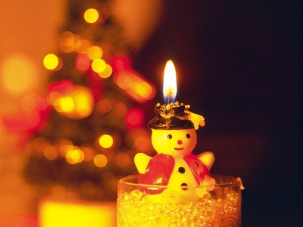 оригинальные новогодние свечи