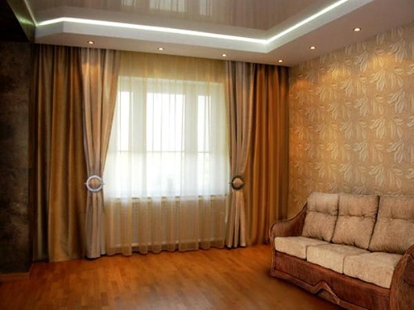 портьеры для гостиной на солнечной стороне фото