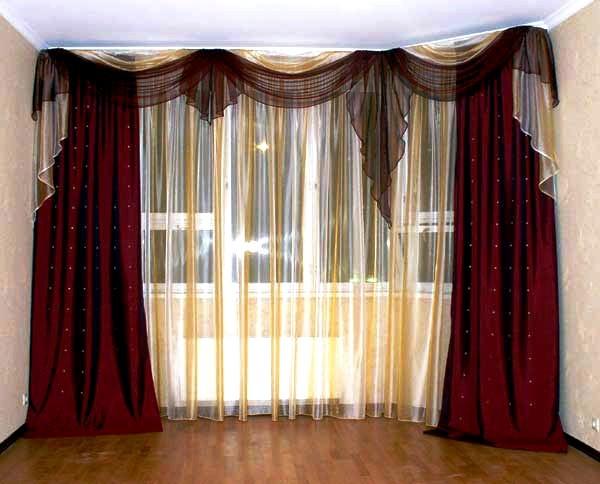 портьеры для современной гостиной фото