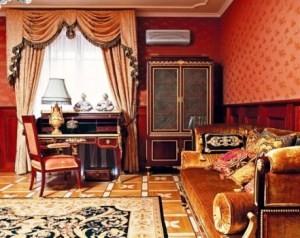 портьеры в гостиную фото