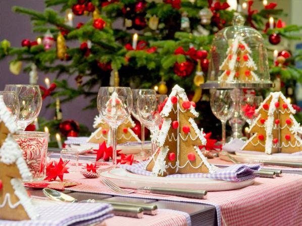 праздничное оформление новогоднего стола