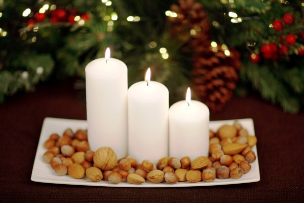 праздничные свечи из воска