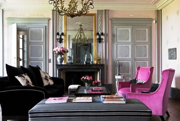 серо-розовый цвет в интерьере