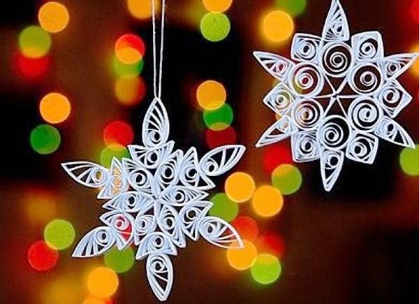 снежинка из бумаги оригами