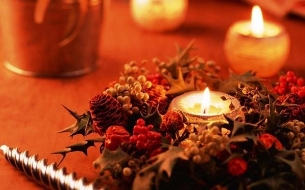 свечи новогодние декор своими руками