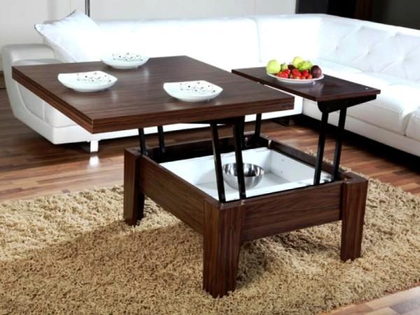 виды столов-трансформеров в гостиную