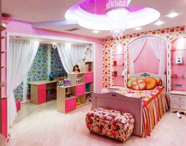 дизайн детской для двух девочек фото 8