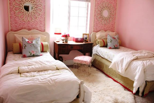 дизайн детской комнаты для двух девочек в хрущевке фото