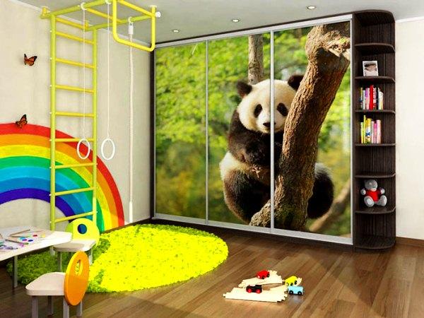 дизайн фасада шкафа-купе способом фотопечати