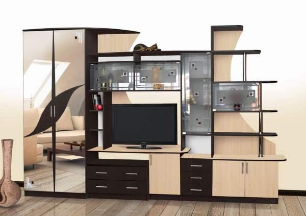 мебельные горки в гостиную фото