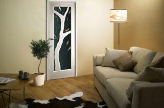 межкомнатные зеркальные двери с зеркальной вставкой