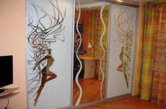 межкомнатные зеркальные двери фото 12
