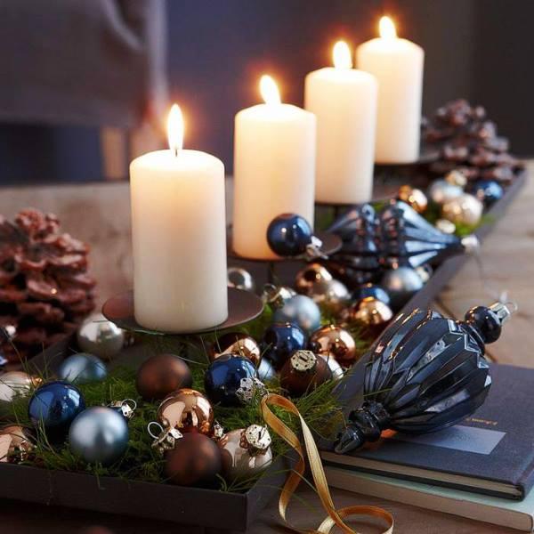 новогодние свечи 2017 своими руками фото