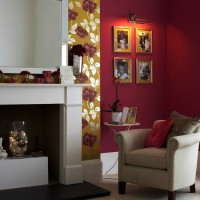 бордовый цвет в интерьере фото 37
