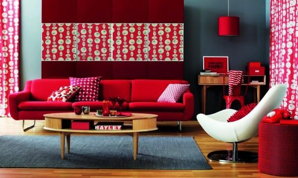 бордовый цвет в интерьере фото 8