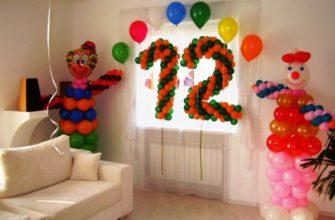 как можно украсить комнату на день рождения своими руками фото