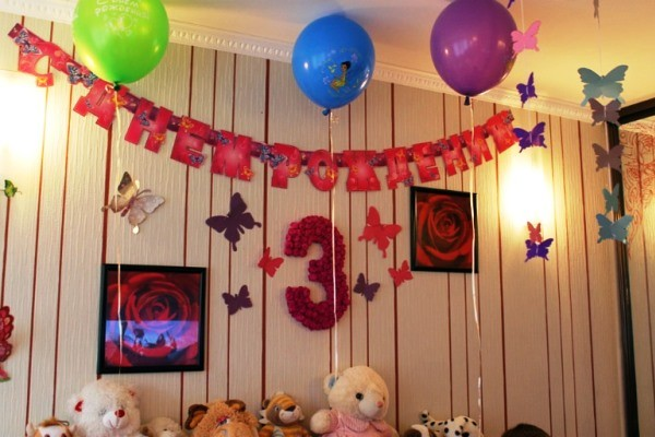 как украсить детскую комнату на день рождения фото