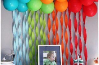 украшение детского праздника своими руками фото 49