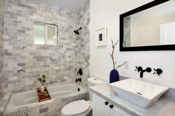 Модная плитка для ванной 2018 фото