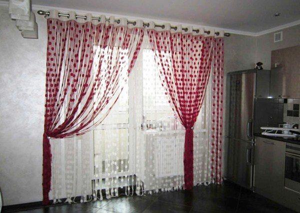 модные шторы для кухни фото 10