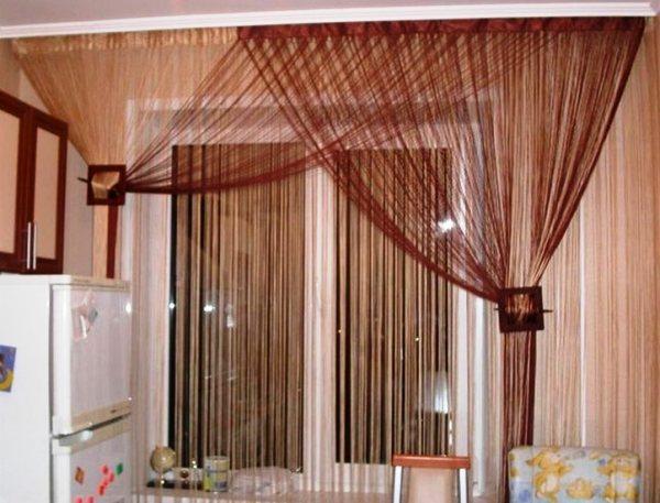 модные шторы для кухни фото 11
