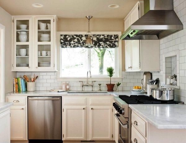 модные шторы для кухни фото 12
