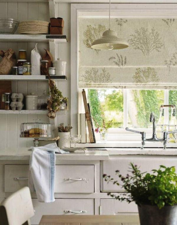модные шторы для кухни 2019