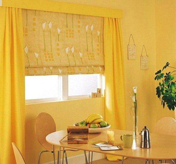 модные шторы для кухни фото 2