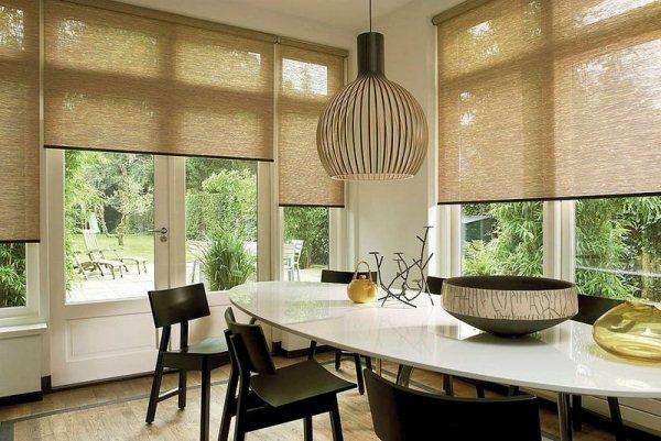 модные шторы для кухни фото 5
