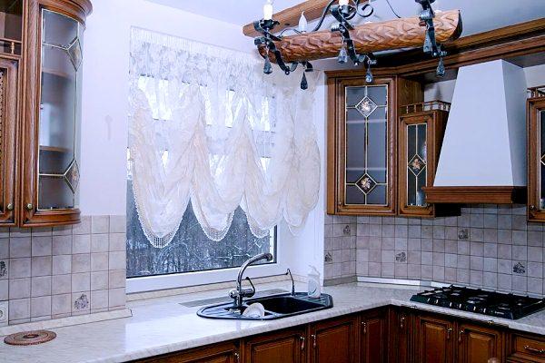 модные шторы для кухни фото 6