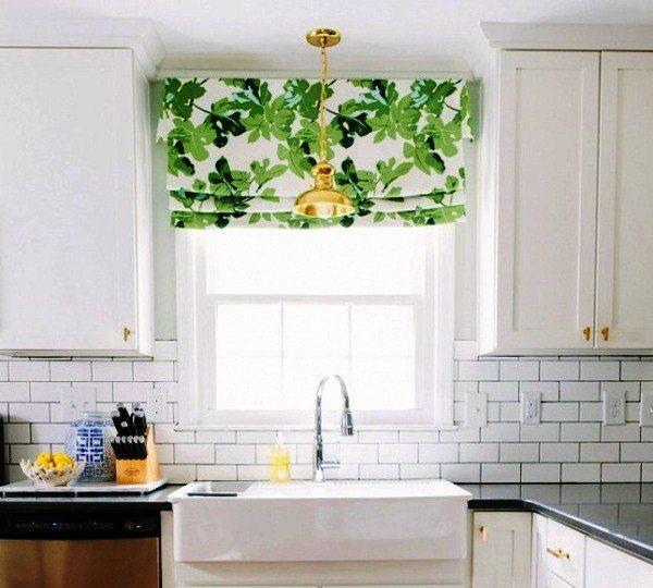 модные шторы для кухни фото 9