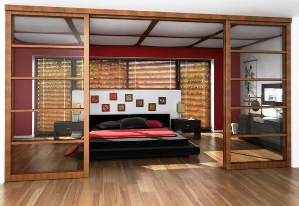 раздвижная перегородка в комнате фото 3