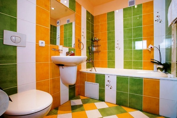 Ванная комната дизайн фото модная плитка 2018 для большой ванны