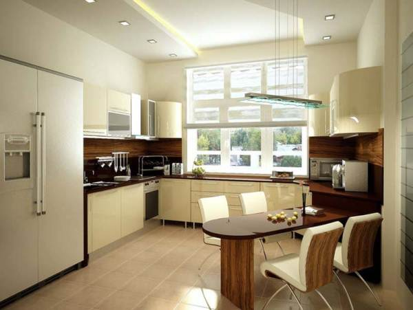 Интерьер кухни 10 кв м фото